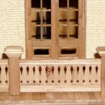 replica- balcony door with railing