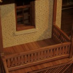 replica- diamond pattern redwood railing